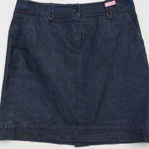 Trina Turk Denim Indigo Wash Skirt SZ 10